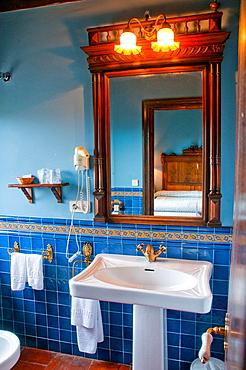 Bathroom in a rural hotel.