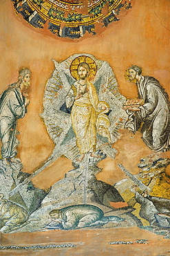 Greece, Central Macedonia, Thessaloniki, Agii Apostoli Holy Apostles church, listed as World Heritage, Mosaic of the Transfiguration 14th C
