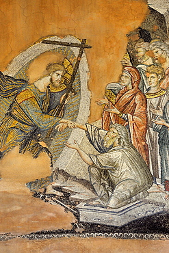 Greece, Central Macedonia, Thessaloniki, Agii Apostoli Holy Apostles church, listed as World Heritage 14th C, Resurrection of the dead