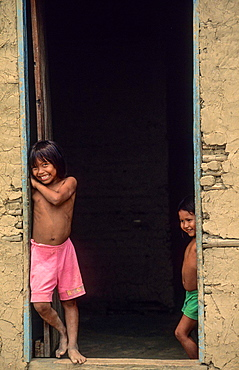 Amerindian Warao. Araguaimujo. Orinoco river. Venezuela.
