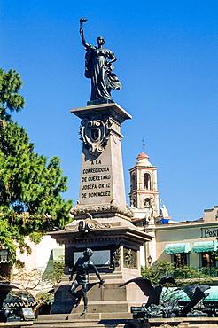 Corregidora garden. Queretaro. Mexico