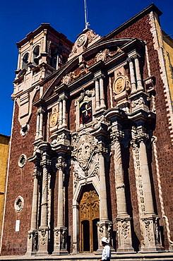 Cathedral. Temple of San Felipe Neu.Queretaro. Mexico