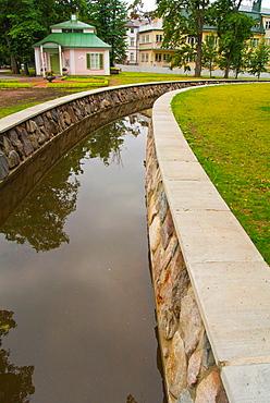 Canal network opened in May 2013 Kadrioru park in Kadriorg district Tallinn Estonia the Baltics Europe.