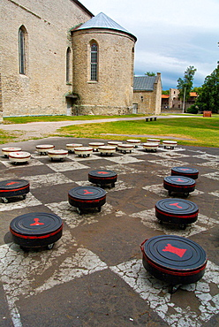 Piiskoplinnus the Episcopal Castle in Haapsalu resort town Laanemaa county Estonia northern Europe.