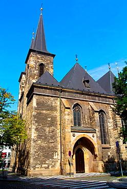 Sv Petr church Nove mesto new town Prague Czech Republic Europe.
