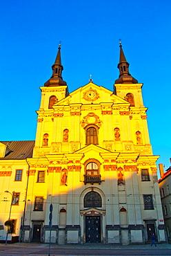 Sv Ignac church Masarykovo namesti old town Jihlava city Vysocina region Moravia central Czech Republic Europe.