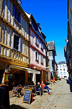 France, Briitany, Finistere, Quimper, Medieval houses on Boucheries street.