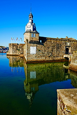 France, Briitany, Finistere, Concarneau, Historic walled town of Concarneau.