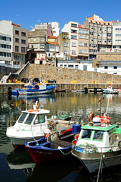 Malpica de Bergantinos, a fishing village in the coast of Galicia. Spain.