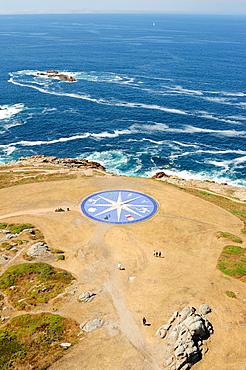 The Wind Rose beside the Torre de Hercules lighthouse. A Coruna, Galicia, Spain.