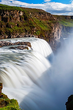 Gullfoss waterfall. Golden Circle route. Iceland, Europe.