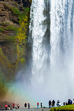 Skogafoss waterfall. Iceland, Europe.