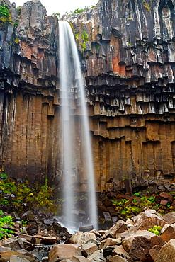 Svartifoss waterfall. Skaftafell National Park. Iceland, Europe.