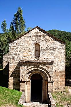 San Adrian de Sasabe church in Borau, Huesca, Spain.