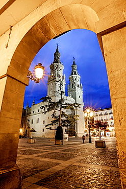 St. James way, Cathedral of Santa Maria de la Redonda at Logrono, La Rioja, Spain.