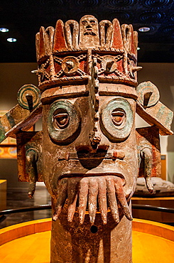 Dios del Agua,God of Water, 900-1500 dc, National Museum of Anthropology. Mexico City. Mexico.