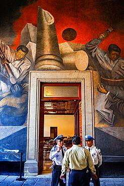 Mural by Rufino Tamayo at Museo Nacional de las culturas, historic center, Mexico City, Mexico.