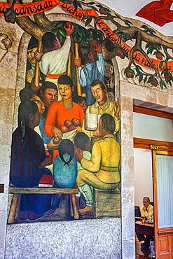 The fruits by Diego Rivera, at SEP (Secretaria de Educacion Publica),Secretariat of Public Education, Mexico City, Mexico.