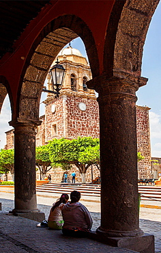 Main square, Tequila city, Jalisco, Mexico.