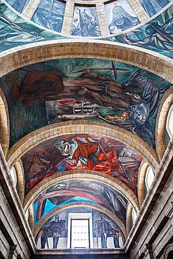 Frescos by Jose Clemente Orozco in Hospicio Cabanas o Instituto Cultural Cabanas, Guadalajara, Jalisco, Mexico.