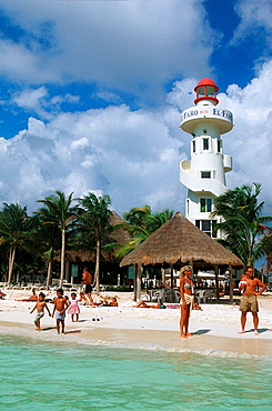Playa del Carmen, between Cancun and Tulum archeological site, important tourist resort, Mexico