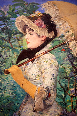 Spring by Manet, National Gallery of Art, Washington D.C., USA.