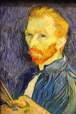 Selfportrait by Van Gogh, National Gallery of Art, Washington D.C., USA.