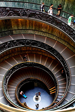 State of the Vatican City Italy Circular staircase inside the Vatican Museums.