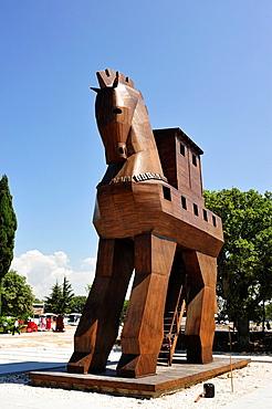 Wooden horse at ancient Troy, Biga Peninsula, Turkey