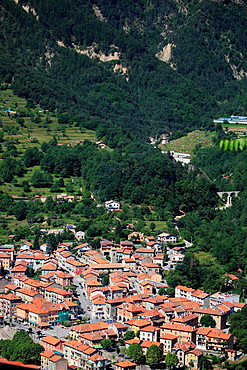 The village of Roquebilliere in the backcountry of the Alpes-Maritimes, Provence-Alpes-Cote d'Azur, France