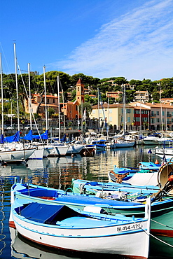 The picturesque fishing village of Saint Jean in the Cap Ferrat, Alpes-Maritimes, French Riviera, PACA, France.