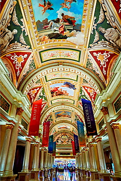 The lobby of Venetian Hotel. Las Vegas, Nevada, USA.