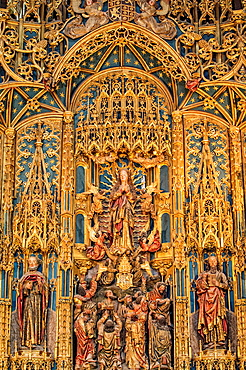 Flamboyant Gothic Style Retable, Santa Cruz Monastery, Coimbra old city, Beira Province, Portugal, Unesco World Heritage Site.