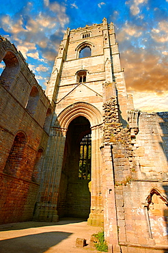 The Cistercian Abbey of Fountains Abbey ruins, North Yorkshire, United Kingdom