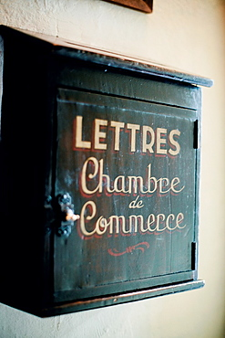 Old letter box. La Tupina. The greedy street. Bordeaux. Gironde. Aquitaine. France. Europe.