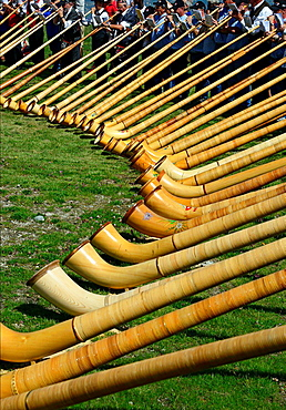 International Alphorn Festival, 27-20 July 2013, Nendaz, canton Valais, canton Wallis, Switzerland.