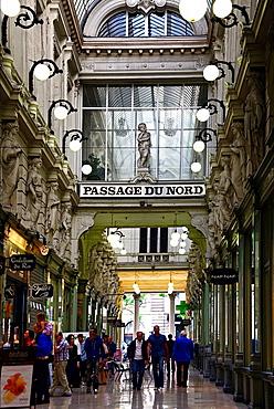 Passage du Nord, shopping arcade near Place de Brouckere, city centre, Brussels, Belgium