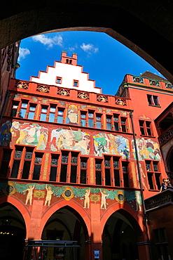 Rathaus (Town hall), Marktplatz, Basel, Switzerland.