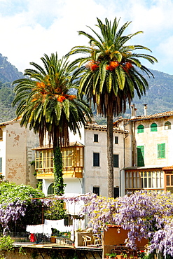 beauty village Soller in Mallorca, spring time, Balearic islands, Spain.