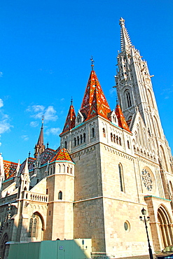 Matthias Church at Buda Castle in Budapest, Hungary.