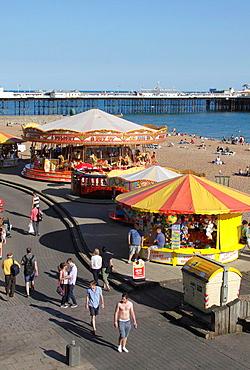Merry go Round at Brighton beach Sussex.