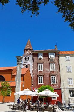 square with St Simeon church in old town of Zadar, Croatia.