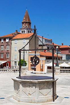 five wells square with St Simeon church, Zadar, Croatia.