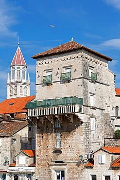 old town with St. Nicholas, Trogir, Croatia.