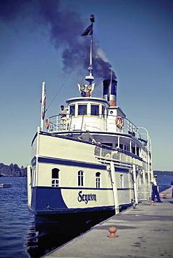 Stemboat at Gravenhurst, Ontario pier.