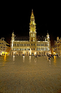 Hotel de Ville (City Hall) on Grand Place in Brussels.