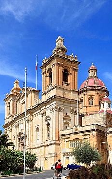 Malta, Vittoriosa, Birgu, Church of St Lawrence.