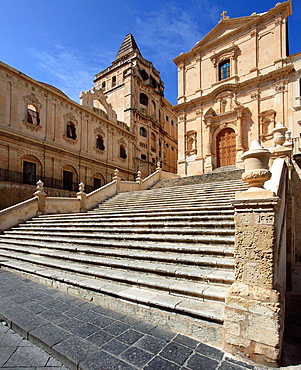 Italy, Sicily, Noto, San Francesco church.