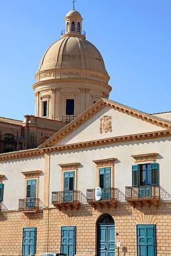 Italy, Sicily, Noto, Palazzo Vescovile, palace.