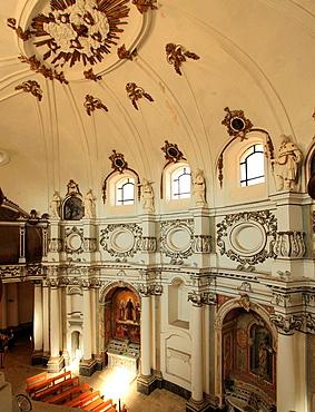 Italy, Sicily, Noto, Santa Chiara Church, interior